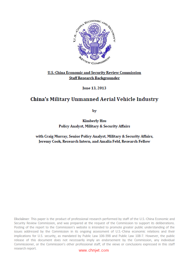 《China's Military Unmanned Aerial Vehicle Industry》