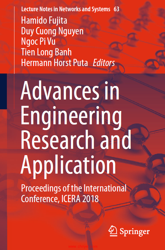 《Advances in Engineering Research and Application:Proceedings of the International Conference,ICER ...