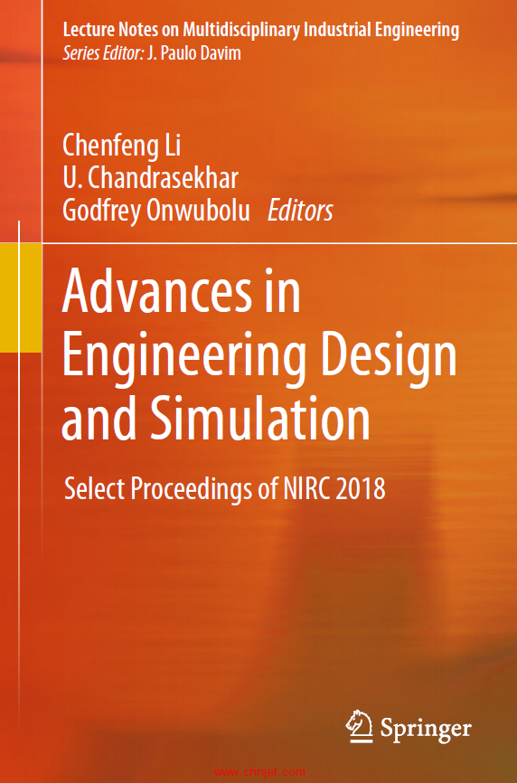 《Advances in Engineering Design and Simulation:Select Proceedings of NIRC 2018》