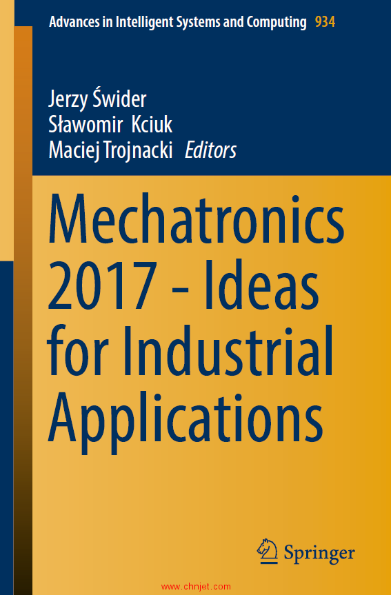 《Mechatronics 2017 - Ideas for Industrial Applications》